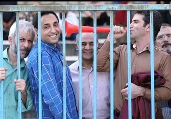 شادی و خوشحالی هوتن شکیبا و امیرحسین رستمی در استادیوم + عکس