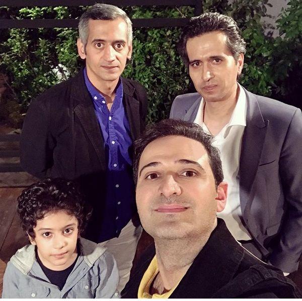 سلفی سعید شیخ زاده با بازیگران قدیمی + عکس
