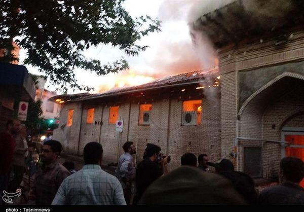 تعداد مصدومان آتش سوزی مسجد ساری به ۱۹ نفر رسید