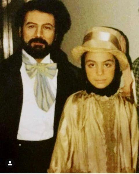 نوجوانی مارال فرجاد در کنار پدرش + عکس