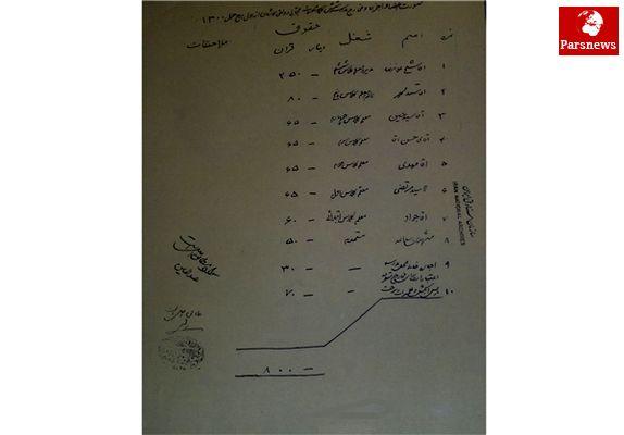 سیاهه مخارج یک مدرسه دولتی در ۹۲ سال پیش + سند