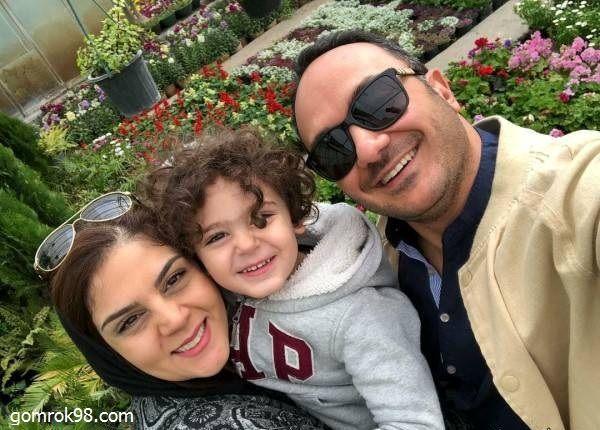احسان کرمی و خانواده در باغ گل+عکس