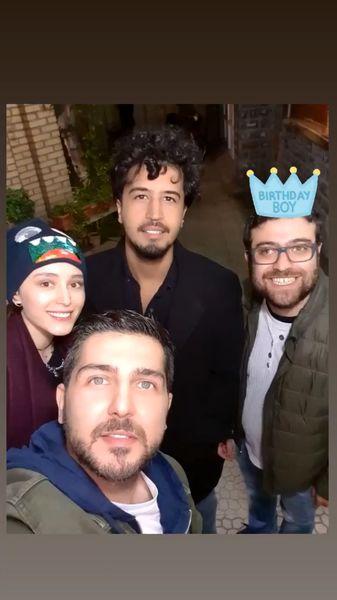 سلفی شبانه مهرداد صدیقیان با دوستانش + عکس