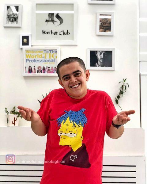 تی شرت آمریکایی طوری امیرمحمد + عکس