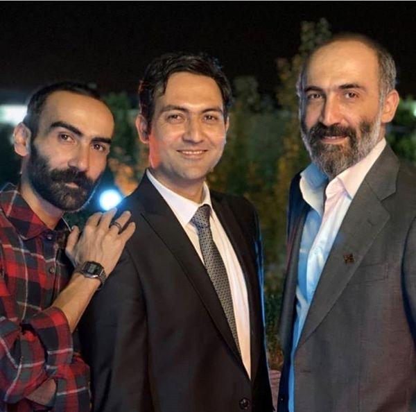 هادی حجازی فر و برادرانش در یک مراسم + عکس