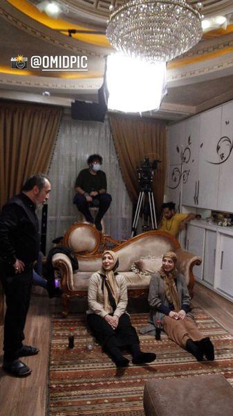 رویا میرعلمی در پشت صحنه سریال صفر ۲۱ + عکس