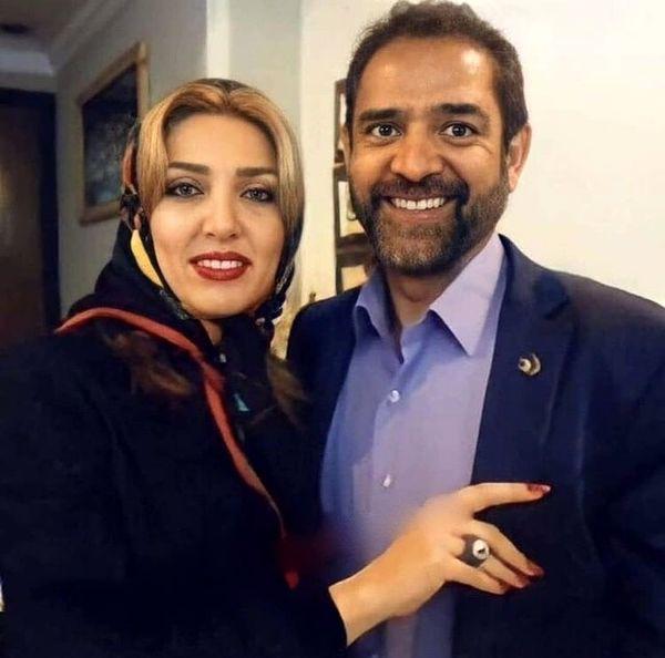 همسر جوان فیروز کریمی + عکس