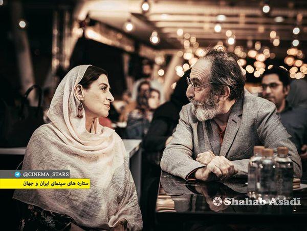 عکس عاشقانه فرهاد آئیش و همسرش+عکس