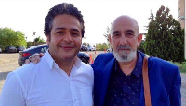 فرهاد آئیش در کنار خواننده معروف + عکس