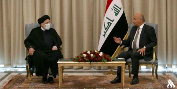 دیدار آیت الله رئیسی با رئیسجمهور عراق