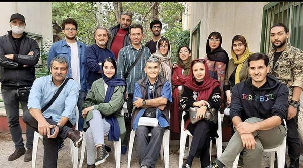مهدیه نساج در آخرین روز سریال بیگانه ای با من است + عکس