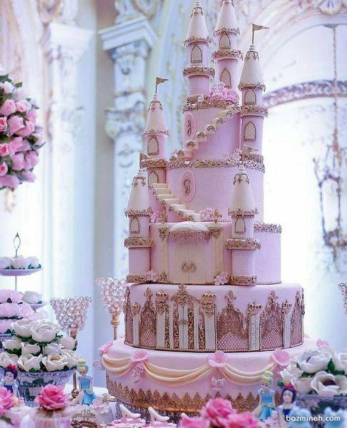 تولد با کیک مدل قلعه مدل کیک قلعهای دخترانه برای تولد+عکس
