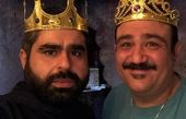 عکس دو سلطان طنز با تاج و جبروت پادشاهی شان