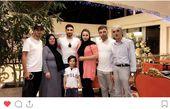 علیرضا جهانبخش در کنار خانواده مهربانش+عکس