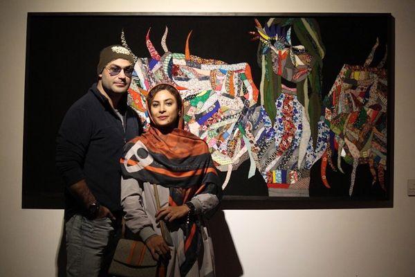 حدیثه تهرانی و همسرش در گالری+عکس