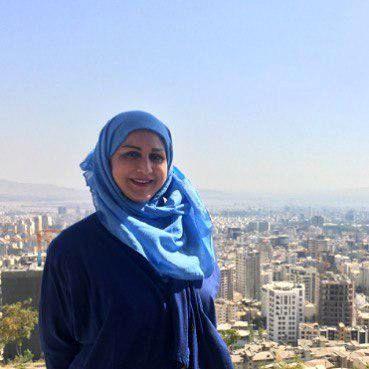 خانم گوینده بر فراز تهران+عکس