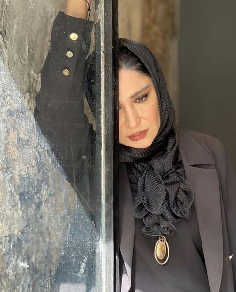 چشمان غمگین نسیم ادبی پس از فوت همسرش + عکس