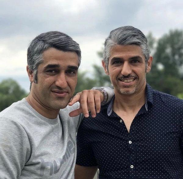 پژمان جمشیدی در کنار برادرش + عکس