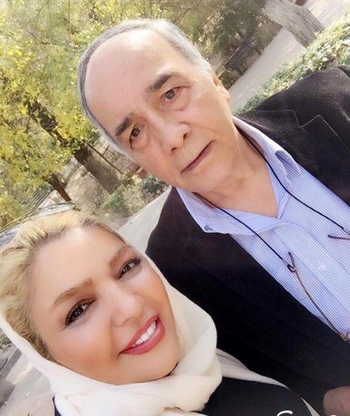 گردش خانم بازیگر با دایی جانش در پارک+عکس