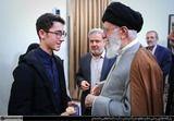 دیدار نوجوان شطرنجباز آقای آرین غلامی با رهبر انقلاب