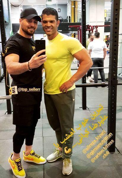دانیال عبادی در کنار دوست بدنسازش + عکس