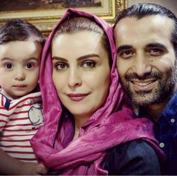 مرحوم ماهچهره خلیلی در کنار پسر و همسرش + عکس