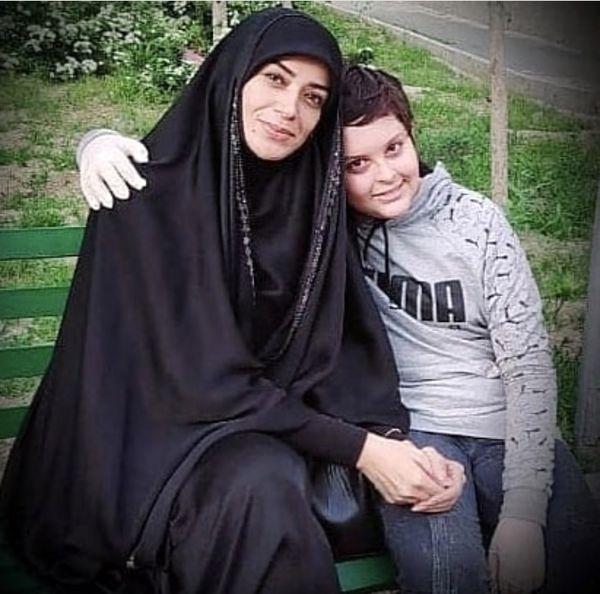 الهام چرخنده در کنار پسرش + عکس