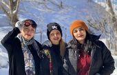 تیپ زمستونی لیندا کیانی و دوستانش در کوه + عکس