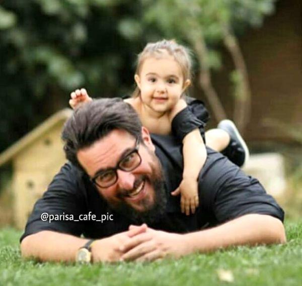 عاشقانه های محسن کیایی و دخترش + عکس