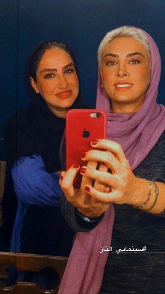 سلفی حدیثه تهرانی با دوستش با استایل جدیدشان + عکس