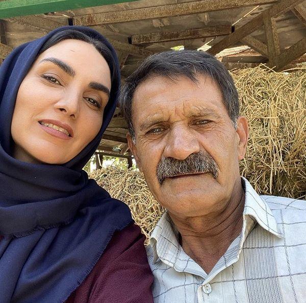 مرجانشیرمحمدی در پشت صحنه سریال زمین گرم + عکس