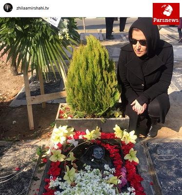 عزاداری مجری زن مشهور/عکس