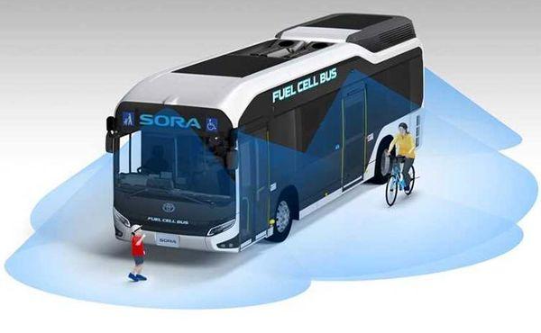 """فروش اولین اتوبوسهای سوخت سلول با نام """"سورا"""" در ژاپن آغاز شد"""