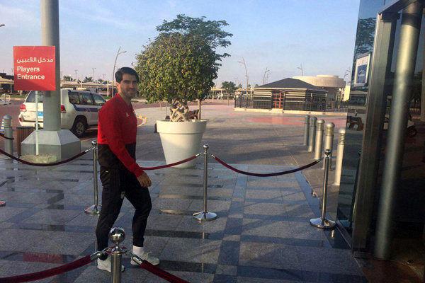 تیم ملی فوتبال وارد ورزشگاه شد