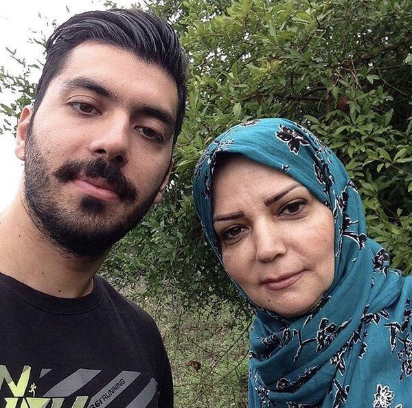 الهه رضایی به همراه پسرش + عکس