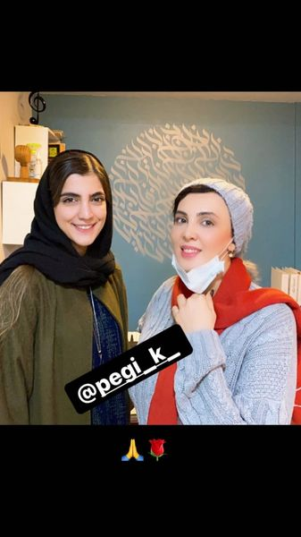 لیلا بلوکات در کنار دوستش + عکس