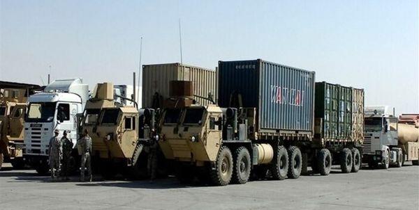 قاچاق 14 کامیون گندم از سوریه به عراق توسط نظامیان آمریکایی