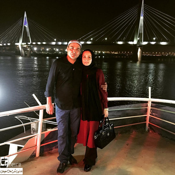 حدیث فولادوند و همسر بازیگرش لب آب+عکس