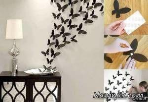 طرح های خوشگل برای تزیین دیوار با کاغذ رنگی