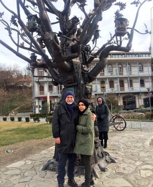 آتیلا پسیانی و همسرش در خارج از کشور + عکس