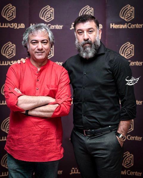 علی انصاریان در کنار بازیگر دوستداشتنی سریال های مهران مدیری + عکس