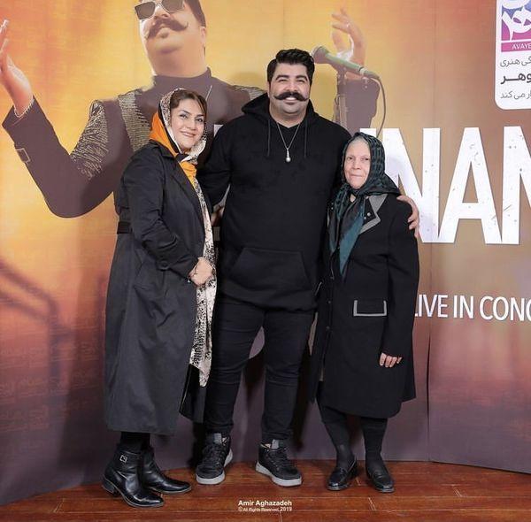 بهنام بانی در کنار مادر و مادربزرگش + عکس