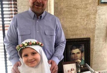 شباهت دیدنی نوه ی دکتر قالیباف به پدرش+عکس