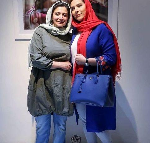 تیپ آبی خوشرنگ سحر دولتشاهی در گردش با الهام کردا+عکس
