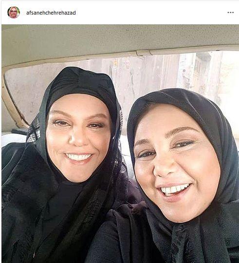 بهنوش بختیاری و خواهر مشهورش + عکس