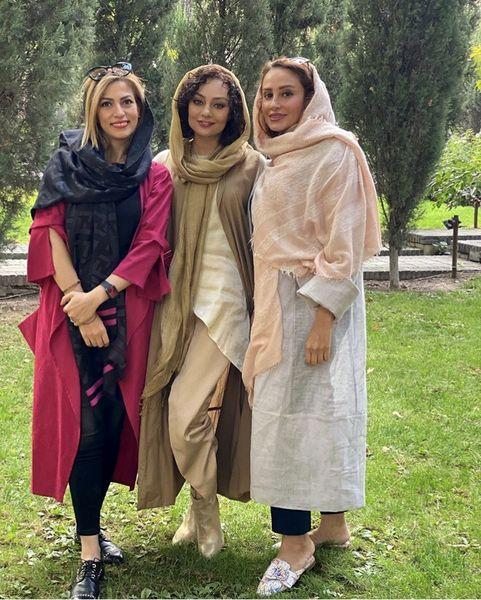 یکتا ناصر و دوستانش در پارک + عکس