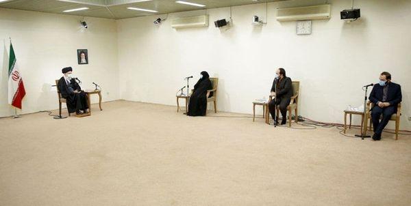 دیدار رهبر انقلاب اسلامی با خانواده شهید محسن فخریزاده