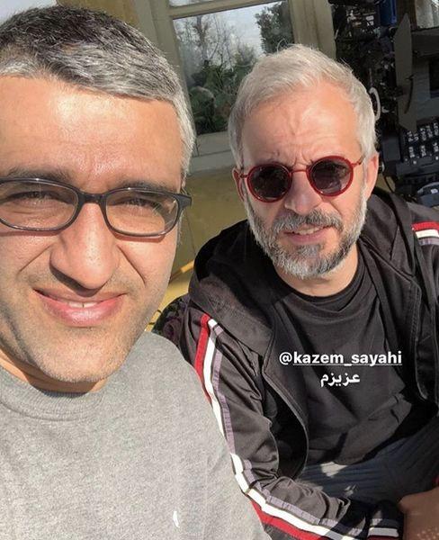 سلفی پژمان جمشیدی با بازیگر کرگدن + عکس