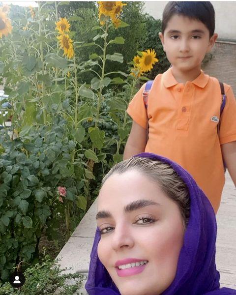 سلفی مادر پسری خانمبازیگر + عکس