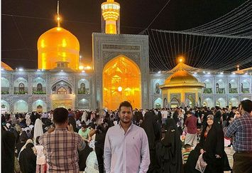 سیاوش خیرابی مهمان ویژه امام رضا(ع)+عکس